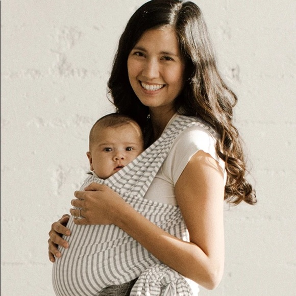 Solly Baby Wrap ( Gray and White)
